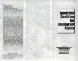 Sanctuary-NSDF, Brochure of  Interfaith Coalition for Immigrant Rights, supported by National...