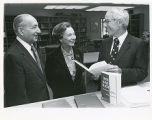 Abe and Lotte Goldwasser with Dr. Lieber, Dedication of Facilities