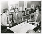 Construction Committee with Milton Whitebook, Sidney Eisenshtat, and Jack Gindi