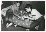 Campers playing chess, Camp Ramah