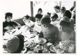 Campers Eating, Camp Ramah