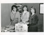 Sylvia Bernstein, Lela Jacoby and Sally Hagen on phone for Conference,  Torah Fund, Women's League...