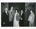 David Lieber, Steve Allen, Sylvia Bernstein, Sonny Raffle, Mayor Tom Bradley, and Myra Shapiro,...
