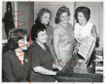 Ruth Goodhill, Raasche Rips, Mrs. Fred Fine, Mrs. Henry Sherman, and Mrs. Sidney Rochlin,...