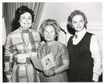 Bel Ostrow, Lillian Cohen, and Mrs. Alfred Fine,  Author-Artist Luncheon, University Women