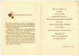 Invitation to Convocation inaugurating the program of the Greater University of Judaism, 1970