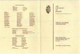 Special Academic Convocation, Program, 1979