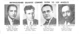 Distinguished Quartet Coming soon to LA, News Clipping, ca. 1940s