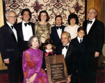 Hyman and Emma Levine family, including Sid Levine receive award with Dr. David Lieber in...