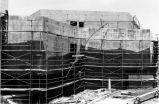Scaffolding at the construction of the Familian Campus