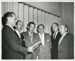 Dr. Simon Greenberg wearing kippah with group