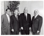 Lewis Pennish, Isadore Levine, Chief Justice Earl Warren, and Sam Fryer