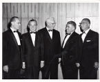 Dr. Simon Greenberg, Theodore Cummings, Chief Justice Earl Warren and Julius Fligelman