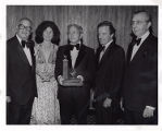 Martin and Mrs. Bergman, with Benjamin Swig, Milton G. Gordon and Julius Fligelman at Patrons...