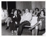 Jack and Rachel Gindi laughing in audience,  Rabbi Robert Gordis Koheleth Book Reading, Camp Ramah