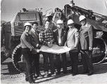 Roland Arnall, Jerry Fine, Abe Bolsky, Jack Gindi, and Harvey Powell, Beginning construction of...