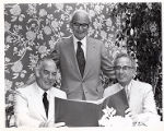Isadore Familian, Edward Sanders, and Milton Sperling, Familian Tribute Committee Meeting