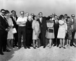 Mr. and Mrs. Gindi and guests, Photographs Taken of Guests at New Familian Campus Site, 1968