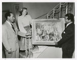 Isadore and Sunny Familian, Mischa Kallis with painting
