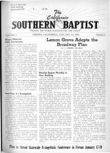 California Southern Baptist, Vol. 8 No. 3 - January 13, 1949