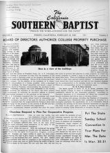 California Southern Baptist, Vol. 8 No. 6 - February 24, 1949